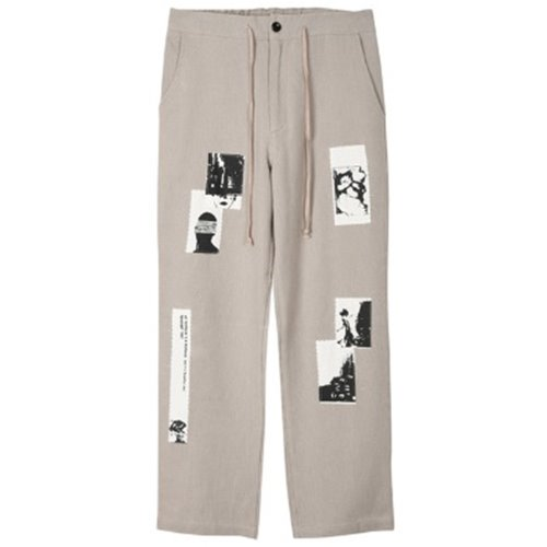 PATCH WORK PANTS BEIGE