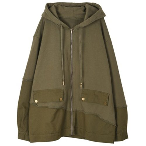 DOCKING HOODY ZIP-UP KHAKI
