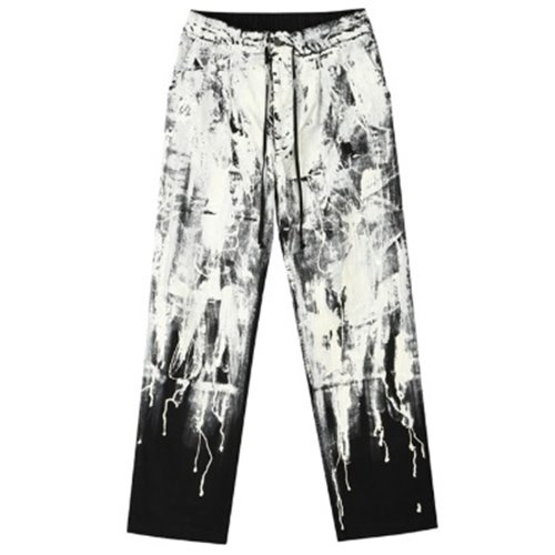 FLOWING PAINT PANTS BLACK