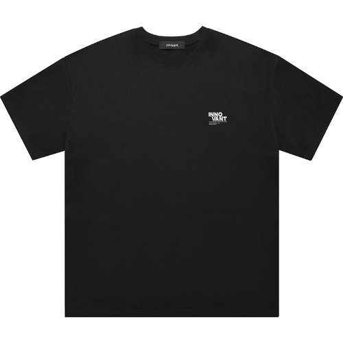 [INNOVANT] METALIC BACK LOGO SHORT SLEEVED T SHIRT - BLACK
