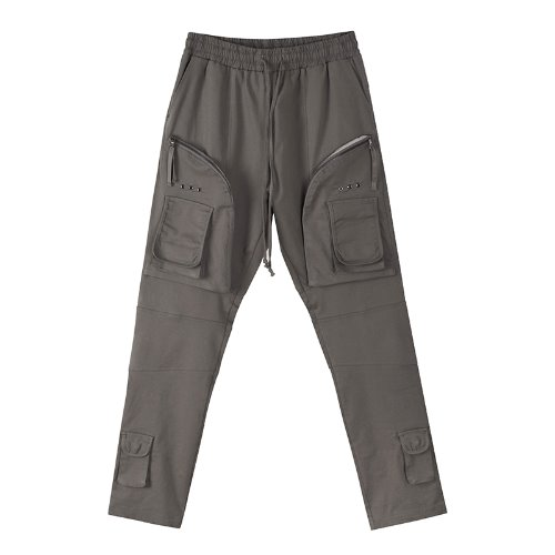 Garment build slim cargo pants - Gray