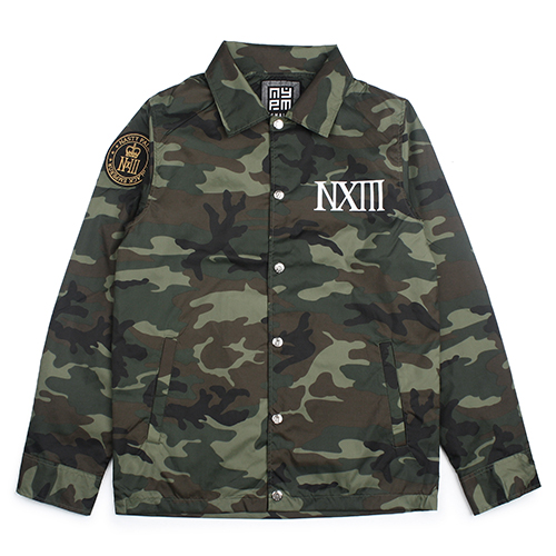 [NASTY PALM] ASIA BLACK COACH JACKET (CAMO)