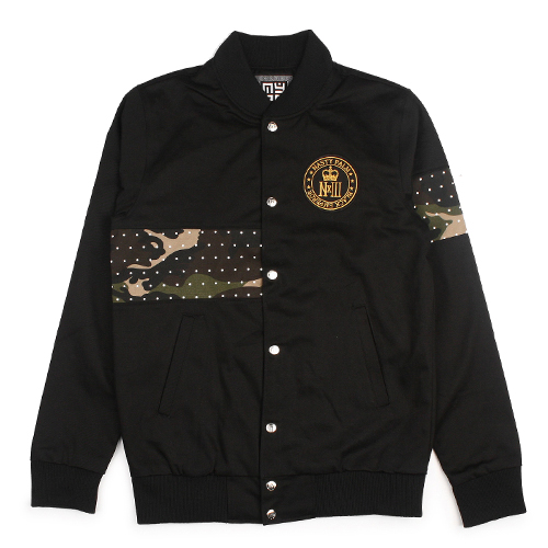[NASTY PALM] NASTY BLACK VARSITY JACKET (BLACK)