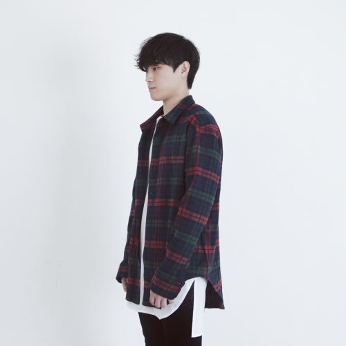 [FADE6] BACKZIP RED CHECK SHIRTS