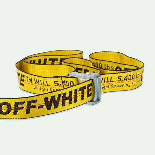 [쿠드그라스 연말 FINAL SALE] [OFF-WHITE] INDUSTRIAL BELT BLACK & YELLOW (110cm)