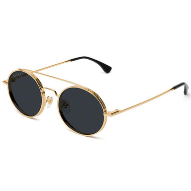 [쿠드그라스 연말 FINAL SALE] [9FIVE] 50-50 24K GOLD ROUND SUNGLASSES