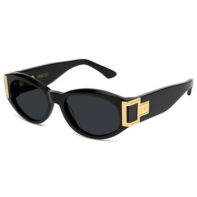 [쿠드그라스 연말 FINAL SALE] [9FIVE] CAPITAL BLACK & 24K GOLD SUNGLASSES (PURE POLARIZED)