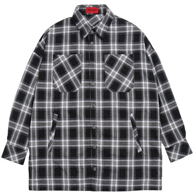 [DEADEND] BLACK FLANNEL POCKET SHIRTS V2
