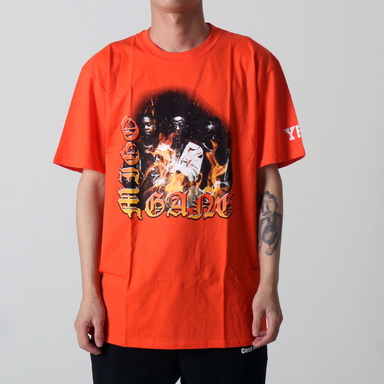 [쿠드그라스 연말 FINAL SALE] [YRN] MIGOS GANG TEE (ORANGE)