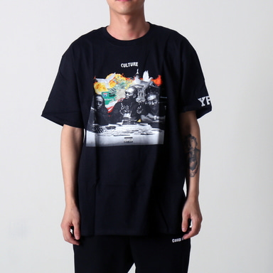 [쿠드그라스 연말 FINAL SALE] [YRN] ROUND TABLE TEE (BLACK)