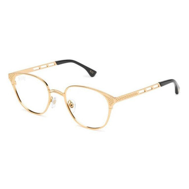 [쿠드그라스 연말 FINAL SALE] [9FIVE] KLS 3 BLACK & 24K GOLD CLEAR LENS GLASSES