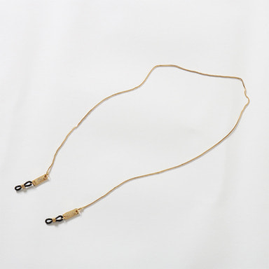 [쿠드그라스 연말 FINAL SALE] [9FIVE] 24K GOLD MICRO BOX CHAIN EYEWEAR LANYARD