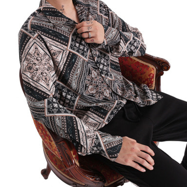 [FADE6] PAISLEY SHIRT BASIC FIT