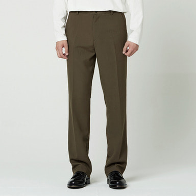 [NOVELLA] SEMI WIDE TROUSER KHAKIBROWN (F/W VER)
