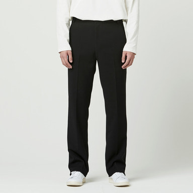 [NOVELLA] SEMI WIDE TROUSER BLACK (F/W VER)