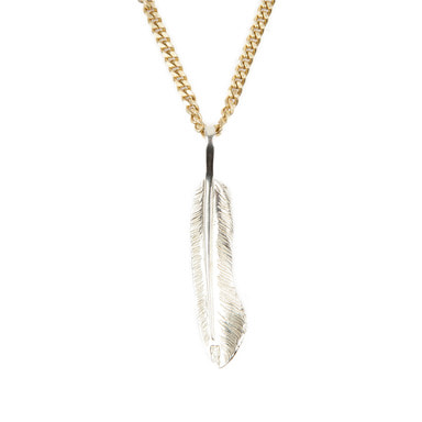 [AGINGCCC] 255# SOLIDBRASS FEATHER NECKLACE-NO.2