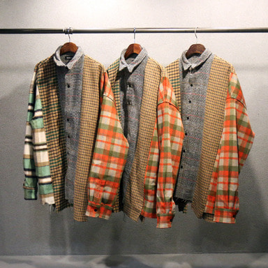 [발매기념 10%] [COUPDEGRACE] REBUILD 5 CUTS FLANNEL SHIRT (MULTI)