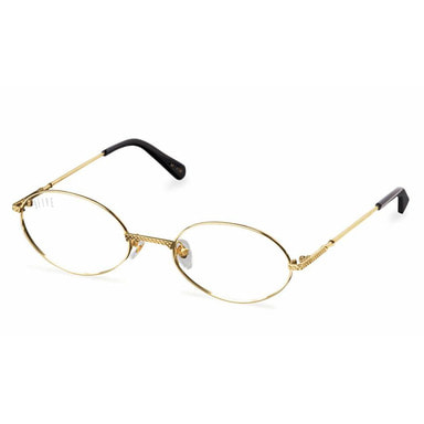 [9FIVE] 40 24K GOLD CLEAR LENS GLASSES RX (GOLD)