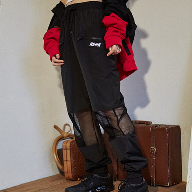 [2018 SUMMER SALE] [NSTK] MESH POINT JOGGER PANTS (BLK)