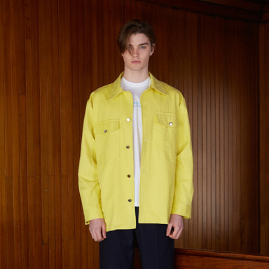 [NOVELLA] 18SS POCKET SHIRTJACKET YELLOW