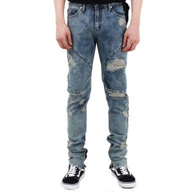 [60% OFF FINAL SALE] [FADE6] DESTROYED WASHED JEANS