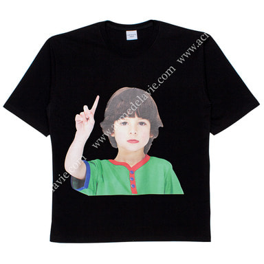 [ACME DE LA VIE] ADLV BABY FACE SHORT SLEEVE T-SHIRT (BLACK) 베이비 페이스 반팔 블랙 ONE MORE