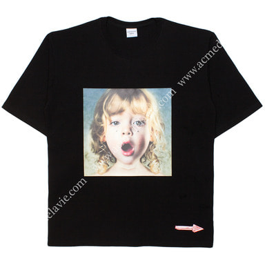 [ACME DE LA VIE] ADLV BABY FACE SHORT SLEEVE T-SHIRT (BLACK) 베이비 페이스 반팔 블랙 보석눈물