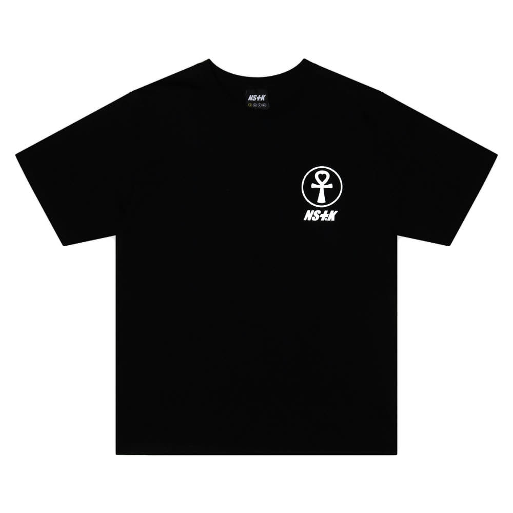 [NSTK] FANCY FLOWER TEE (BLK)