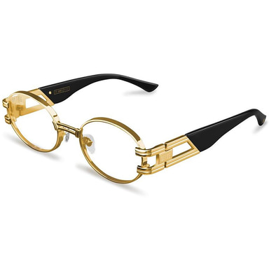 [30% PRE-ORDER SALE 5/11~5/28 예약판매] [9FIVE] ST. JAMES BLACK & 24K GOLD CLEAR LENS GLASSES