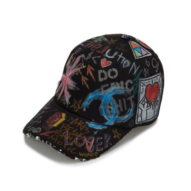 [BLACKBLOND] TWEED CAP GRAFFITI VER. (BLACK)