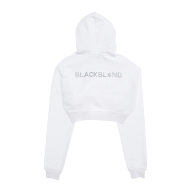 [BLACKBLOND] BBD REFLECTION CROP HOODIE (WHITE)