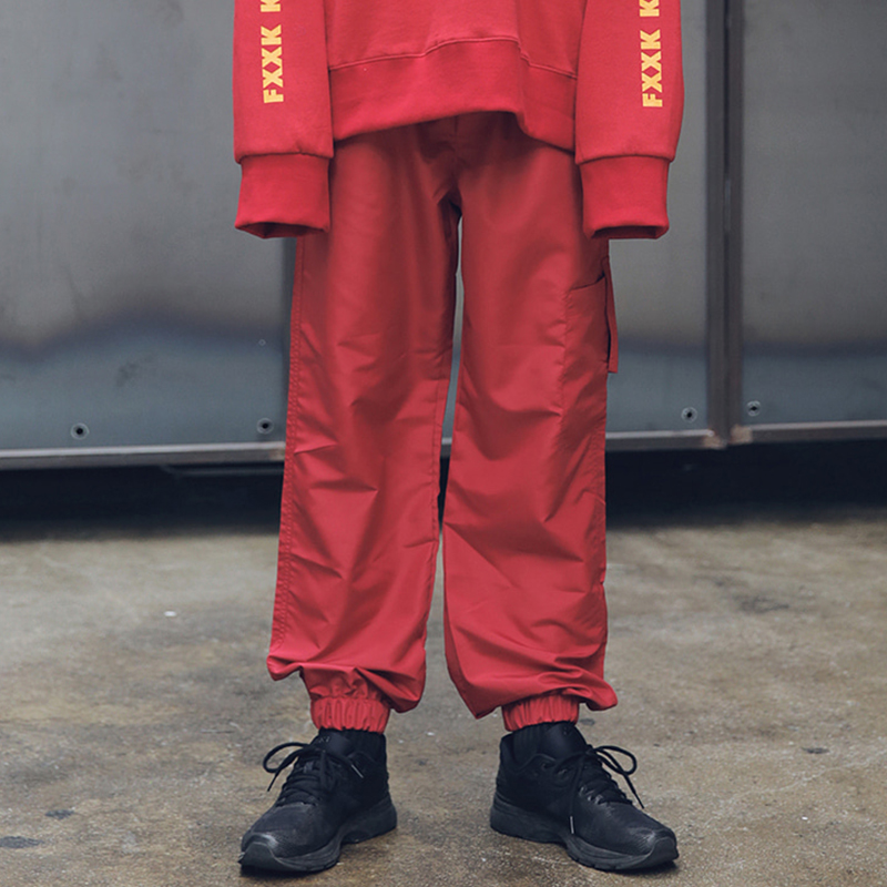 [MASSNOUN] INCISION COVER TRACK PANTS MFETP001-RD